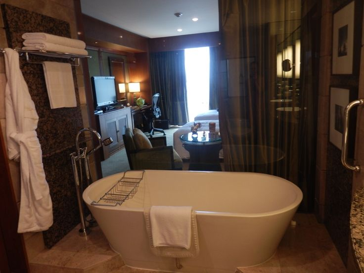 Bathroom in an executive room at the Conrad Bangkok Hotel, Thailand