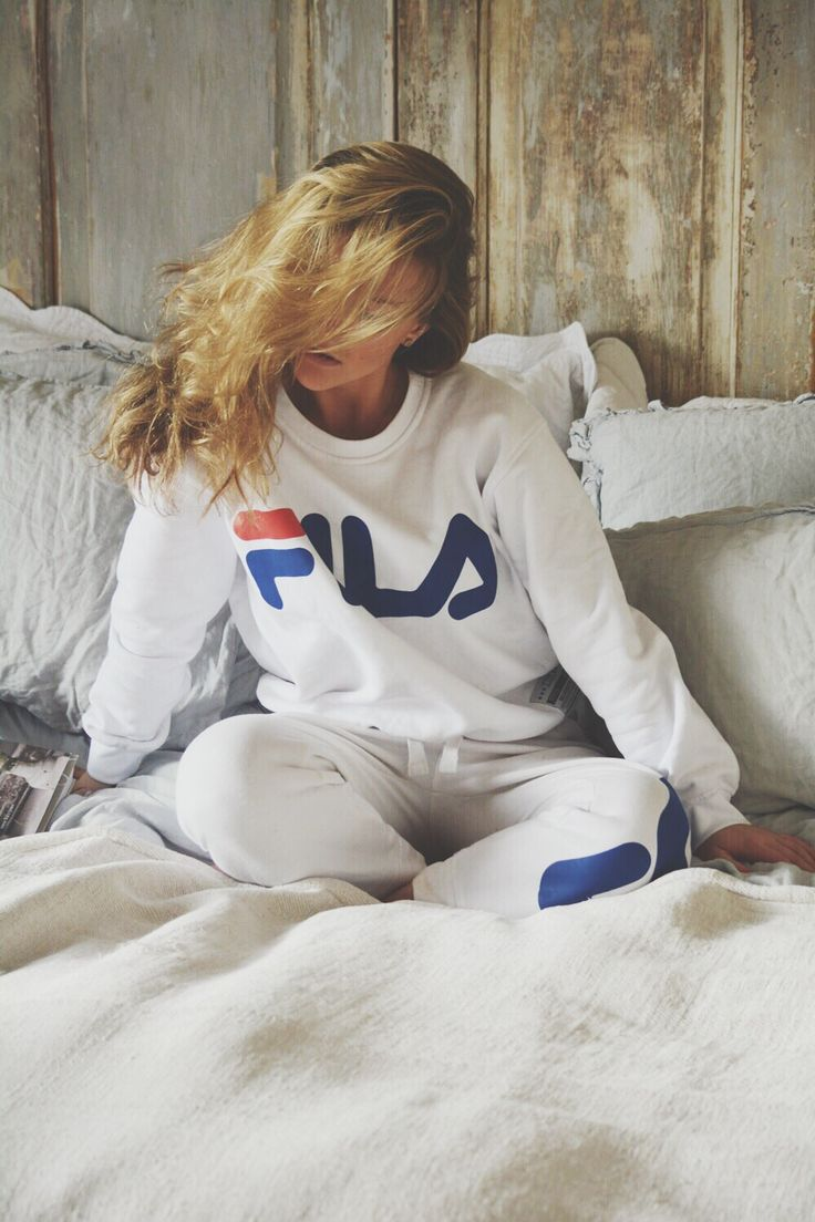 Molly Rustas wearing the JUNKYARD XX-XY // FILA collab.