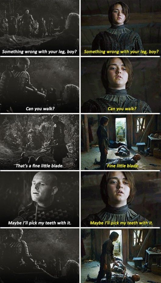Arya Stark Season Four, Episode One: Game of Thrones