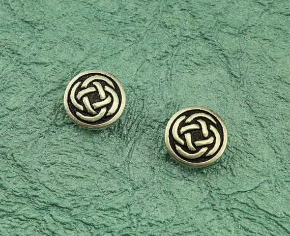 15 mm Round Celtic Knot Magnetic Earrings by LauraWilsonGallery