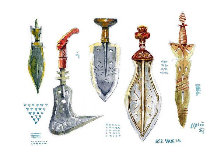 #Tribal . . . . .  #mooeti #portrait #watercolor #painting #traditionalart #drawing #draw #sketch #art #artist #arte #artoftheday #artistic  #illustration  #instaart #instaartist  #beautiful #weapons#creative #instadraw #culture #relic #african #museum #ethnic #artwork #artistsoninstagram #artcollective #swords