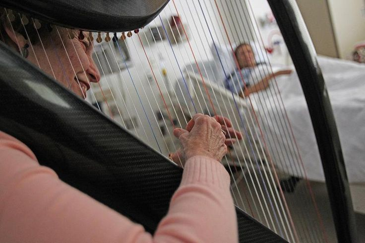 Nancy Kleiman is one of the many healers at Brigham and Women's Hospital, but not the kind with a medical degree. Kleiman's job is to play the harp.