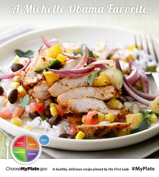 Southwest Chicken Skillet #protein #veggies #myplate #myplatebirthday