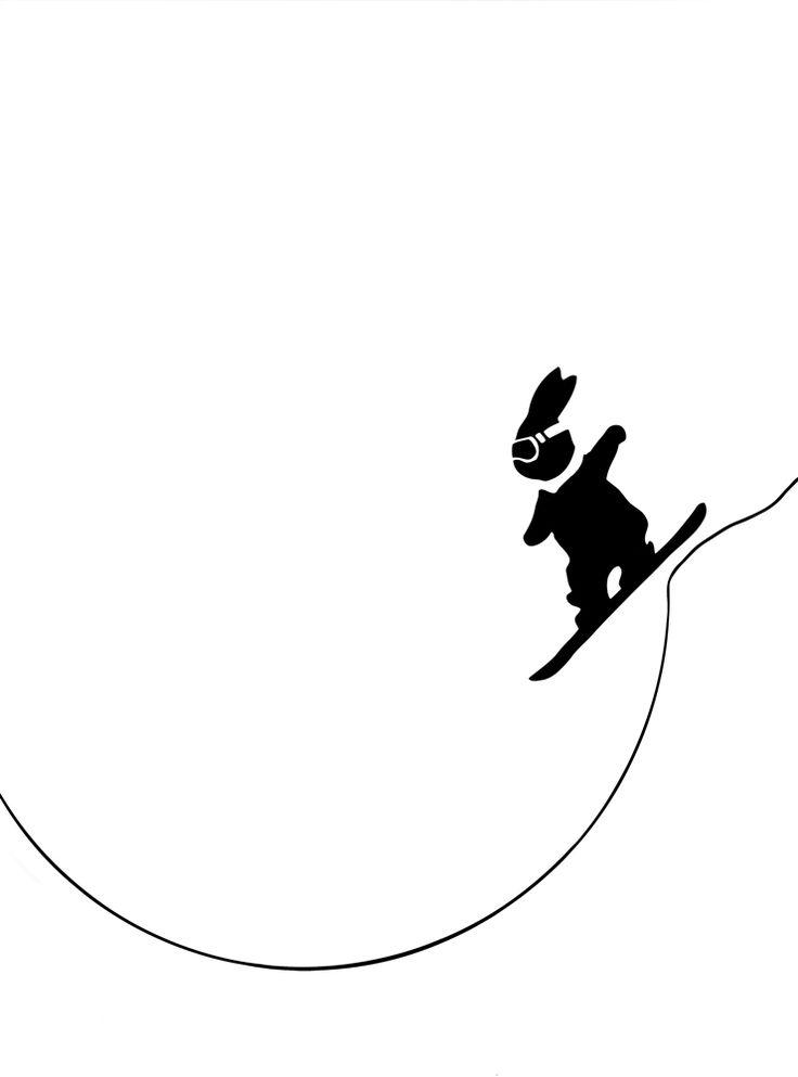 Print Club London – Snowboarding Rabbit