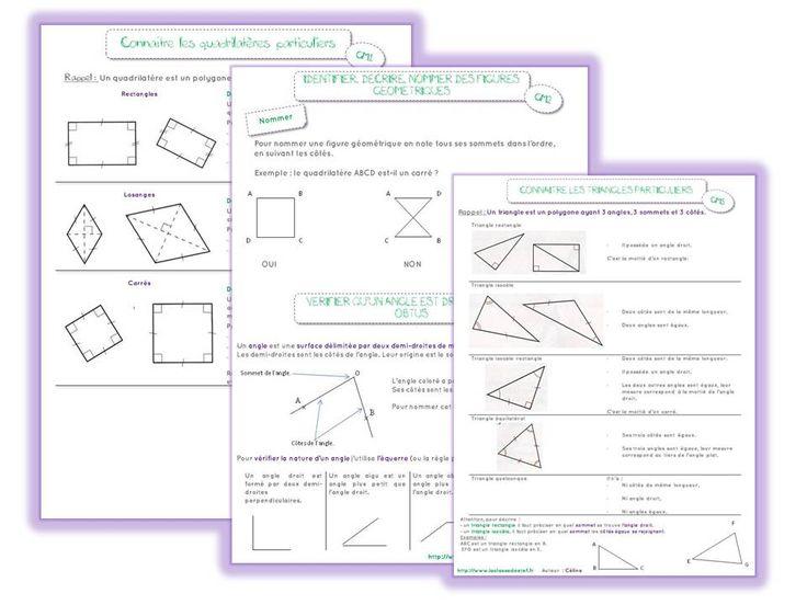 Leçons géométrie CM2 - la classe de stefany