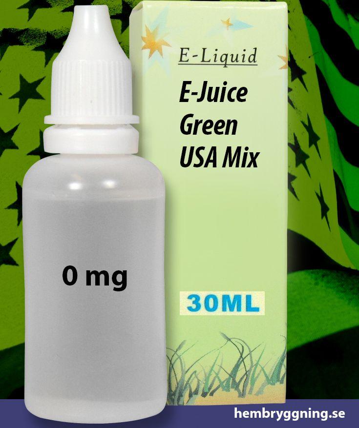 E-Juice Green USA Mix 30 ml. 0 mg.
