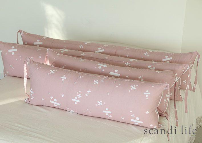 범퍼쿠션,범퍼침대,DIY, 패브릭, 원단, 스칸디라이프, 신생아 침구, 신생아침대, bumper cushion, bumper bedding, Scandi Life, Densfinn, pink