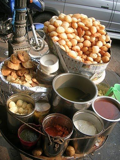The golgappa (also known as panipuri पानीपूरी,  pānīpūrī, pani ke bataashe, Marathi: पाणीपुरी pāṇīpurī,Urdu: گول گپّے, Gujarati: પાણી પુરી, term used in Western India, puchka (Bengali: ফুচকা, or gup chup (Oriya: ଗୁପଚୁପ୍)) is a popular street snack in India, Pakistan, Bangladesh and Nepal.