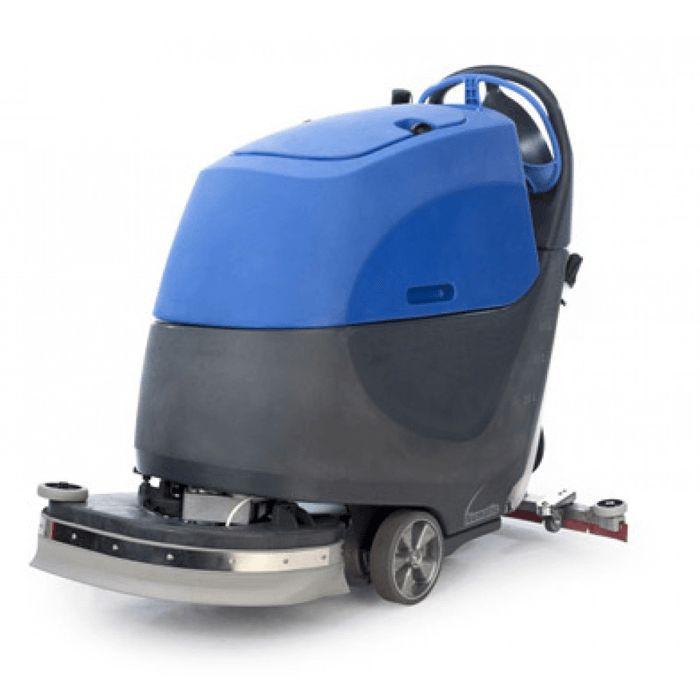 Numatic TTV 4555 maszyna czyszcząca z trakcją .Profesjonalna maszyna czyszcząca - zmywarka do posadzek z grupy bateryjnych automatów szorująco zbierających, przeznaczona do czyszczenia wszystkich rodzajów podłóg. Wyposażona w duże, 60 litrowe zbiorniki na czystą i brudną wodę wykonane z tworzywa Structufoam, odpornego na uderzenia. Górny
