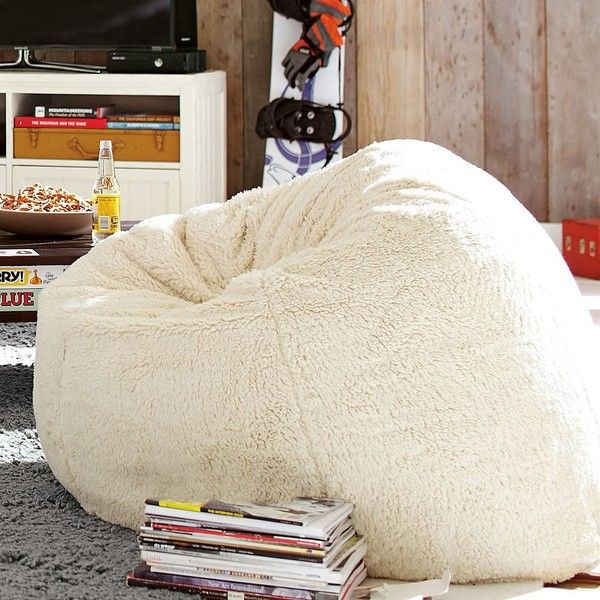PB Teen Sherpa Small Beanbag Slipcover Insert At Pottery Barn