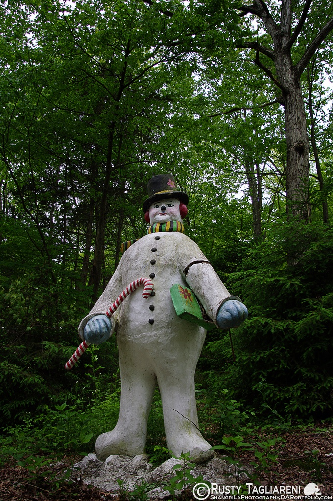 The abandoned Fairy Tale Forest in NJ.  Supposed to be cheerful, I may have nightmares.
