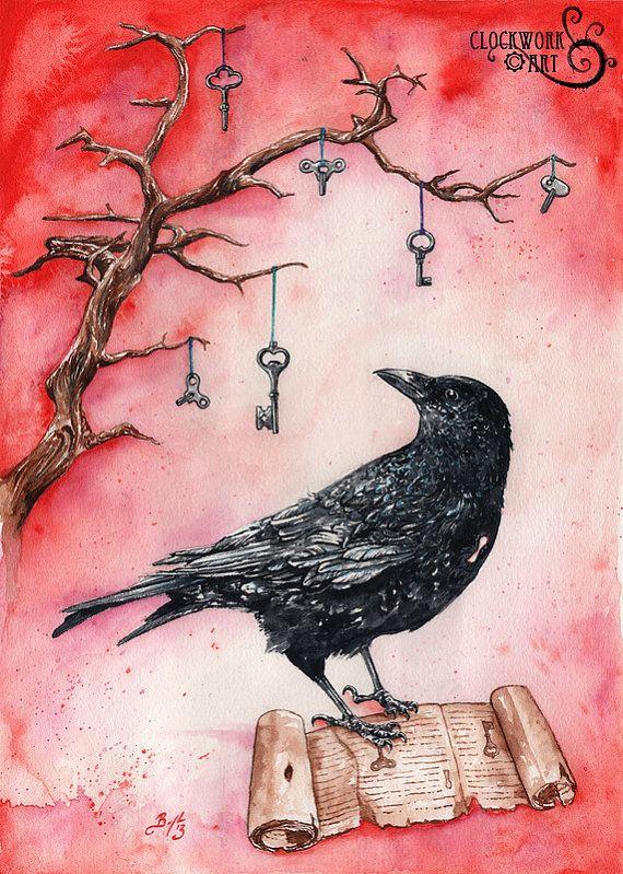 Riddles of Forgotten Lore: Fine Art by ClockworkArtShop on Etsy