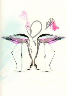 Flamingos by Erin Petson $249