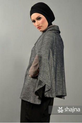 shajna | SK352 - ASYMMETRICAL JERSEY CAPE | #hijab #hijabi #hijabstyle #modesty #muslimah #turban