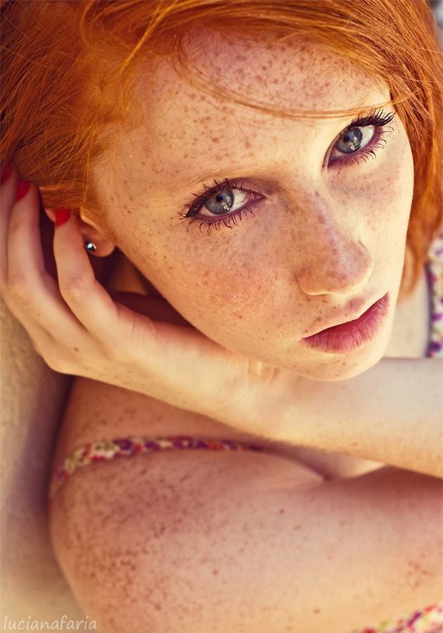 Amateur freckled redhead
