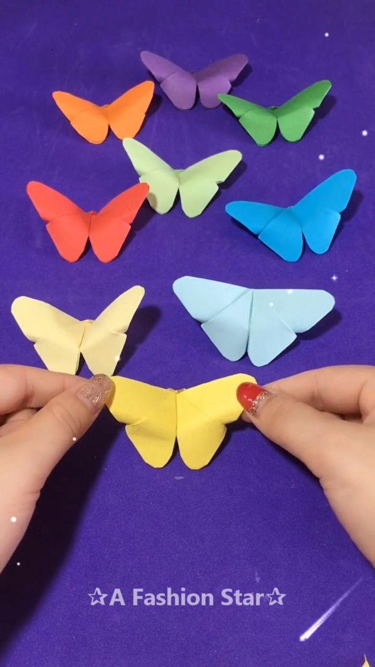 Beautiful Cute Butterflies Origami Idea – DIY – ✰A Fashion Star✰