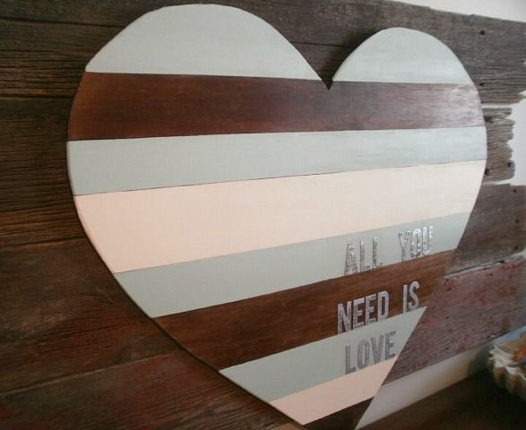 All You Need Is Love – DIY Wood Panel Heart | My Crafty Spot - When Life Gets Creative