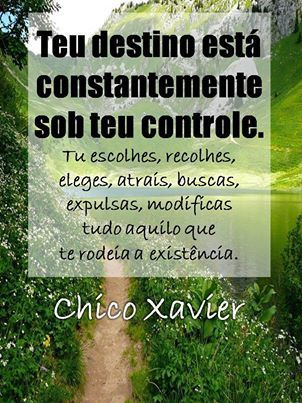 Mensagens espíritas por Chico Xavier.