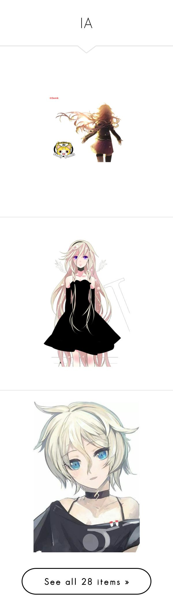 """IA"" by yumecchi ❤ liked on Polyvore featuring anime, vocaloid, filler, drawings, people, art, figures, ia, anime girl and effect"