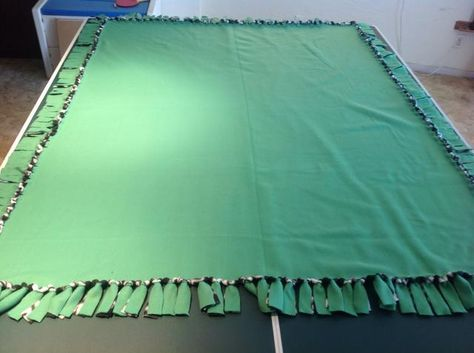 how to make a fleece tie blanket video