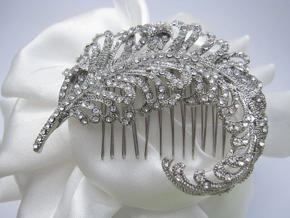 wedding hair combbridal headpiecewedding hair by bridal101 on Etsy