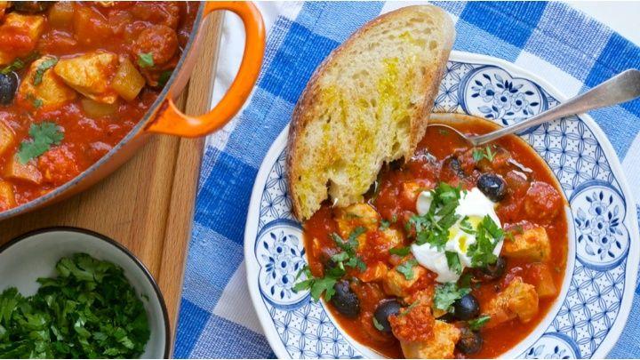 Chicken & chorizo stew. netmums.com Photo: well worn whisk