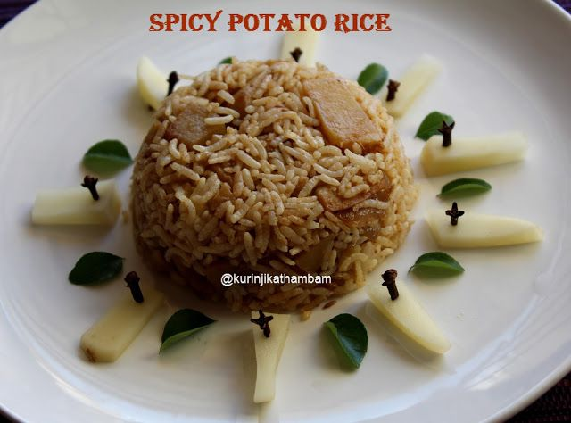 Spicy Potato Rice / Urulai Kizhangu Saatham | Variety Rice Recipes ~ Kurinji Kathambam