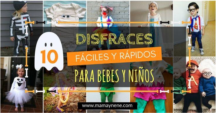 Disfraces rápidos y fáciles para bebes y niños - hablloween -mamaynene