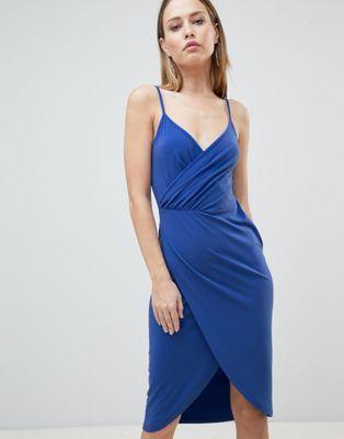 d8bfa64d1fe39 DESIGN cami drape cowl back slinky midi dress | S T Y L E | Dresses ...