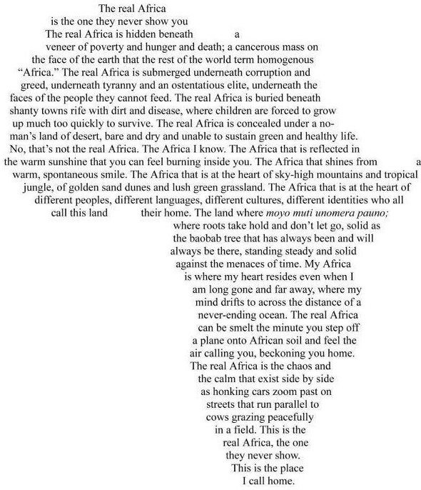 The heart of Africa!