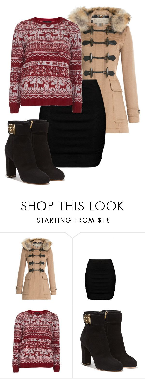 """""""Silence in the Library"""" by maananb ❤ liked on Polyvore featuring Burberry, Zizzi, Dorothy Perkins and Salvatore Ferragamo"""