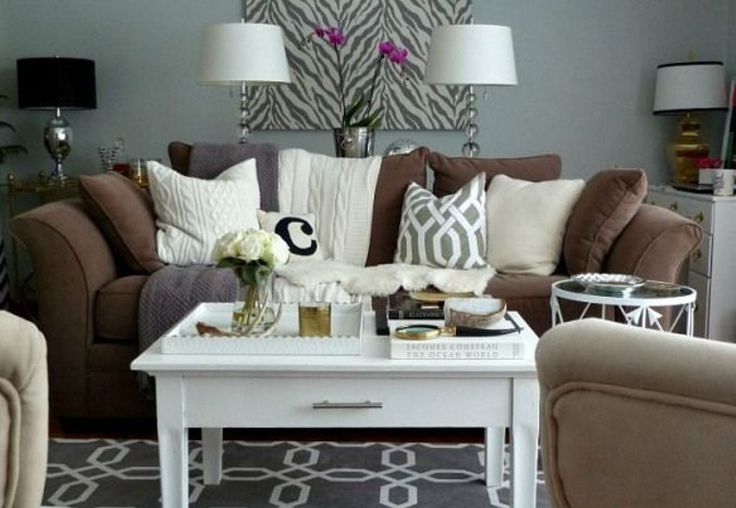 25 best ideas about chocolate brown couch on pinterest for Brown green and cream living room ideas