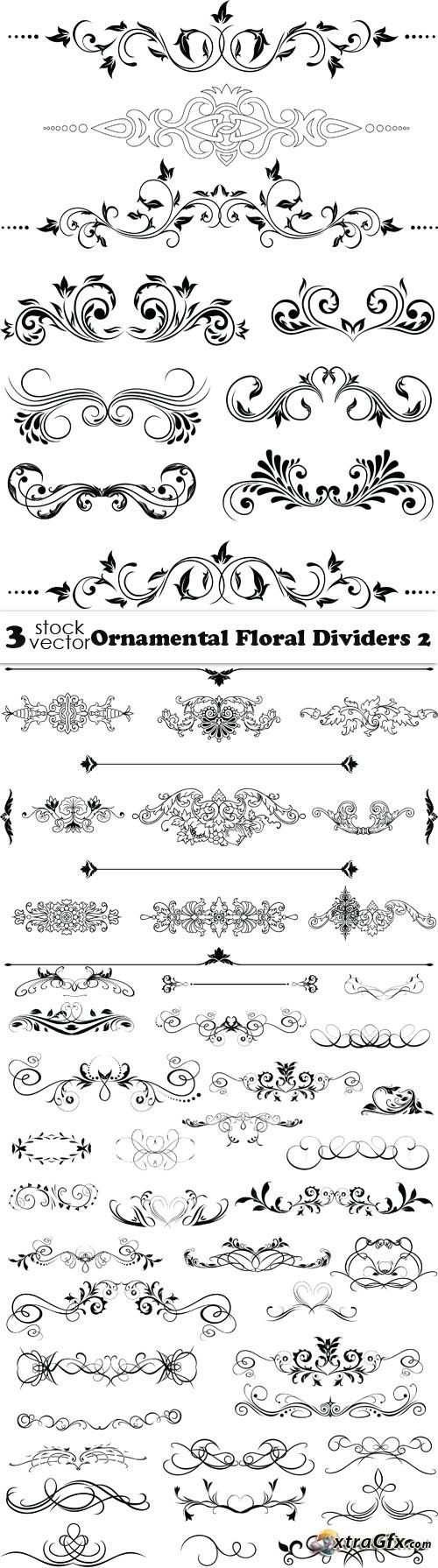 Vectors - Ornamental Floral Dividers 2