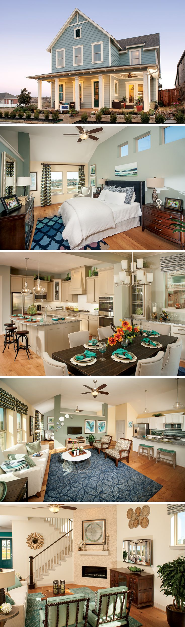 The Eastmoreland by David Weekley Homes in Raiford Crossing is a 4 or 5 bedroom home that features a study, an open kitchen and family room and a private covered porch. Custom home features include various kitchen upgrades, a sunroom or a large shower in the owners retreat.