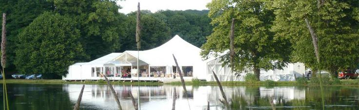Top Hat Marquees - Our Beautiful Dome Marquee in the picturesque lakeside setting at Wycombe