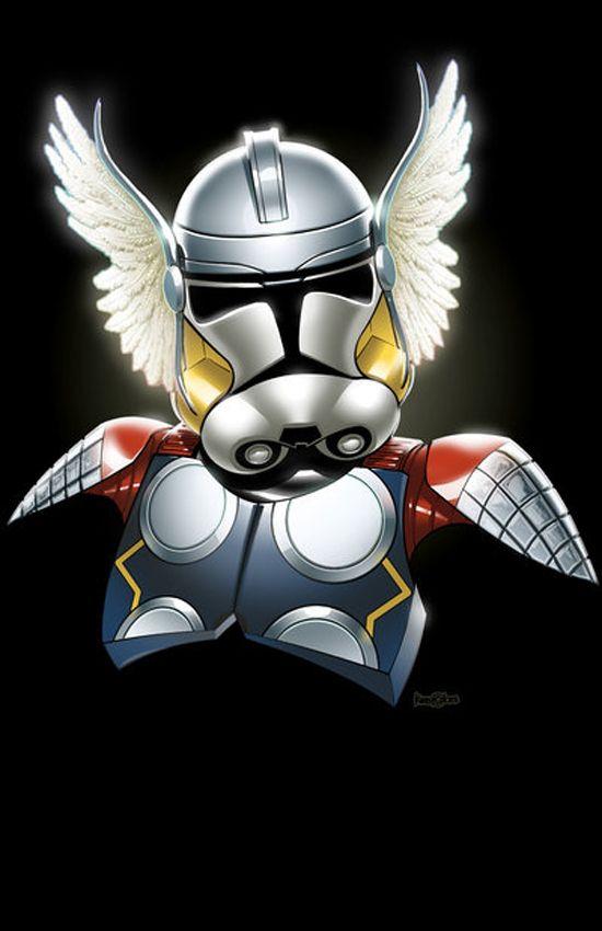 Stormtrooper Superheros: Storm Troopers, Comic, Clone Trooper, Star Wars, Thor Trooper, Thor Clone, Stormtrooper, Starwars