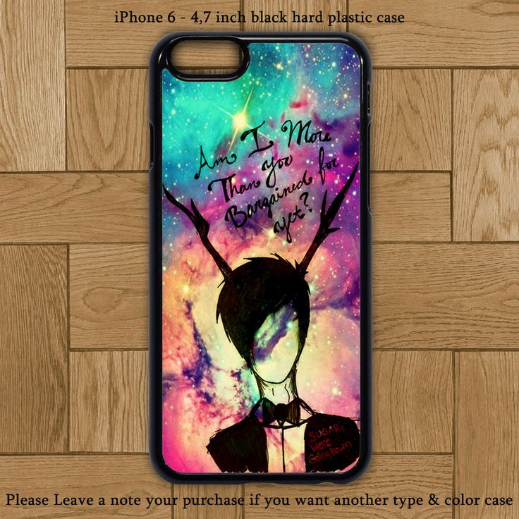 Galaxy Nebula Fall Out Boy Quote Cover iPhone 6 Case Hard Plastic Cases