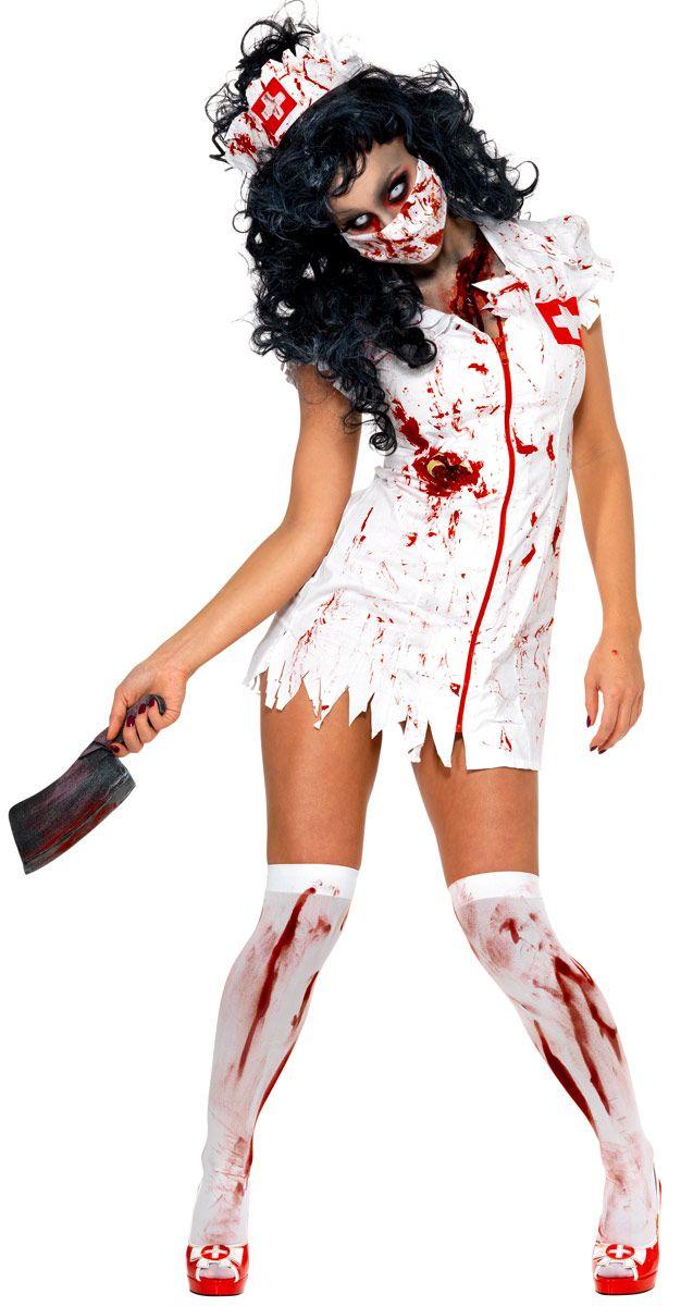 Adult Zombie Nurse Costume - 34132 - Fancy Dress Ball