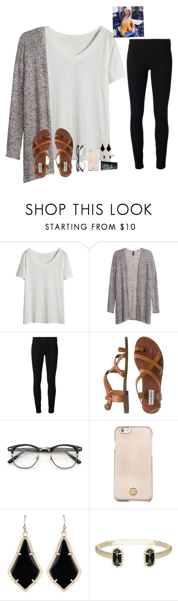 """""""Good morning loves """" by raquate1232 ❤ liked on Polyvore featuring H&M, Helmut by Helmut Lang, Steve Madden, ZeroUV, Tory Burch, Kendra Scott and NARS Cosmetics"""