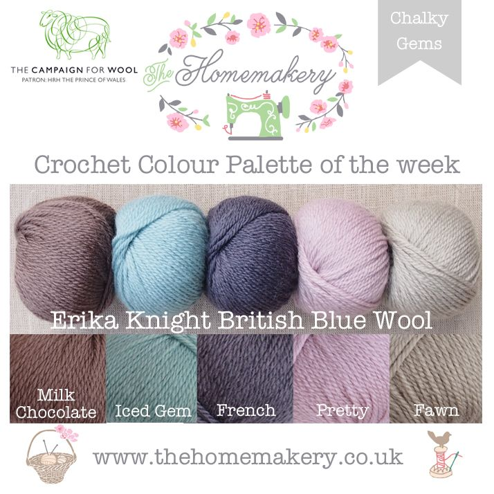 Crochet Colour Palette: Erika Knight Chalky Gems - The Homemakery Blog