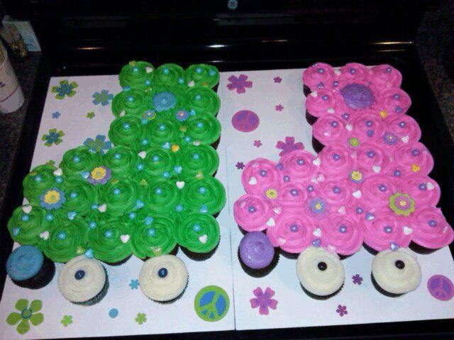 roller skate cake. cupcake cake