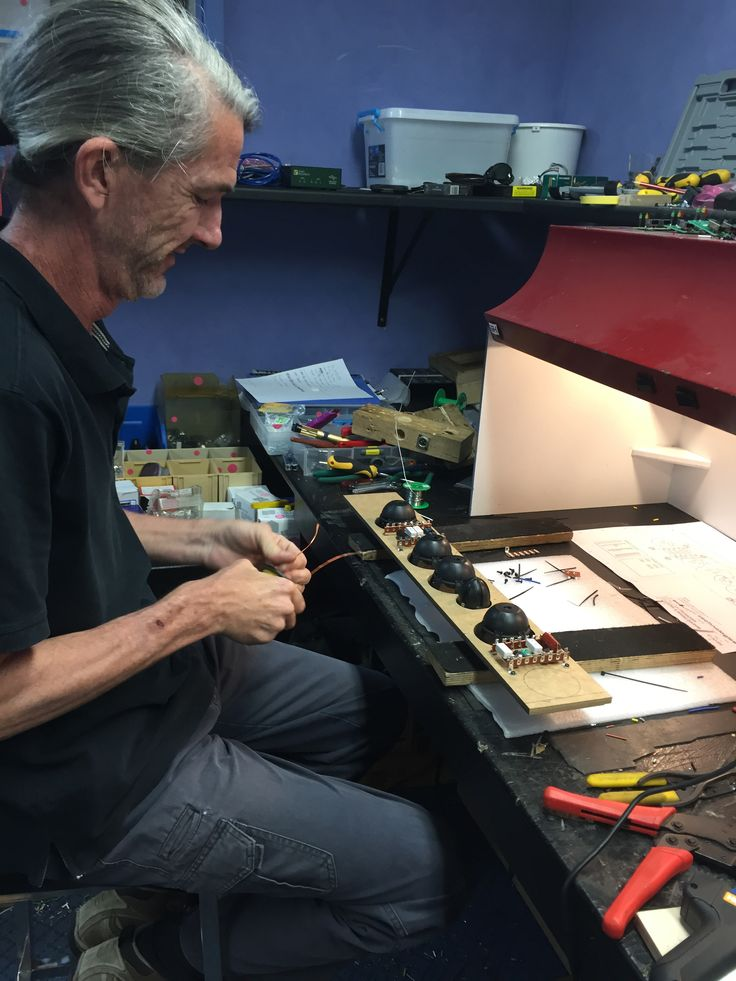 Here's John on the electronics bench. From the planning to the prototypes to the testing to the final manufacture it's hands on here at AT. #madeinaustralia #acoustics #soundsystems www.atprofessional.com.au