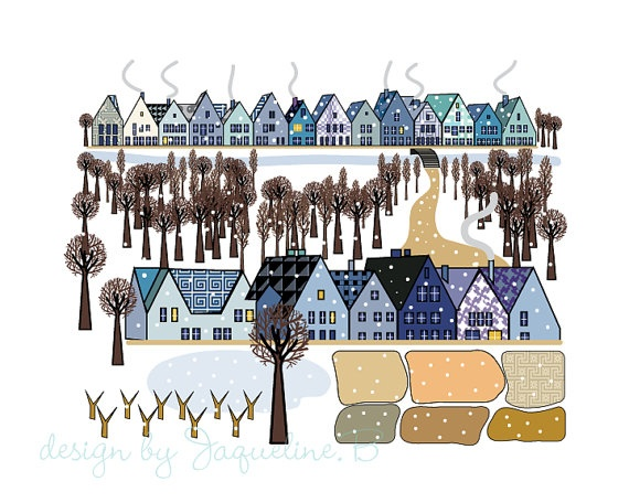 WINTER art PRINT by JAQUELINEB on Etsy, $20.00