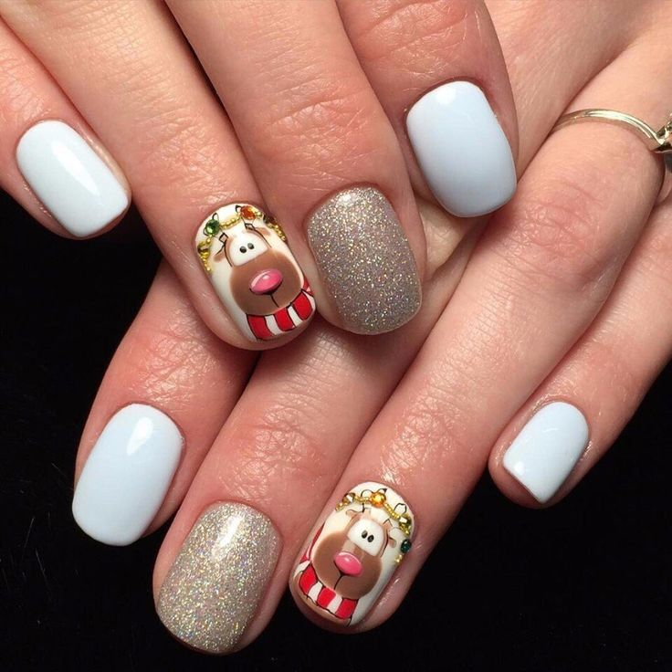 Best Christmas Gel Nails: 75 Best Christmas Nails Images On Pinterest