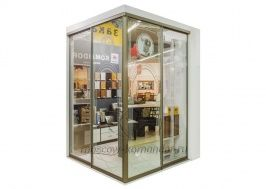 Угловая гардеробная KOMANDOR дверей-купе: Лазурит анода шампань, колонной системы: алюминий.