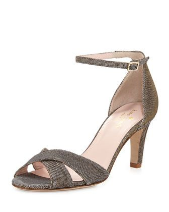 eleanora+shimmery+crisscross+sandal,+bronze+by+kate+spade+new+york+at+Neiman+Marcus.