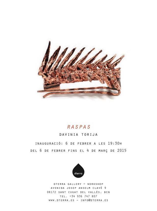 Exposición individual el joyería del proyecto Raspas en la Galería-Taller Dterra, by Davinia Torija