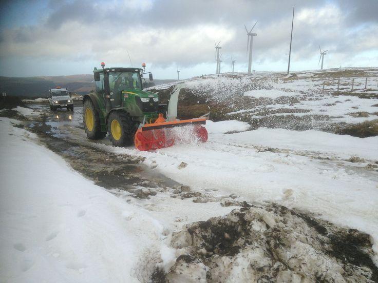 Cerruti Snow Blower on John Deere tractor, supplied in the UK by Kersten