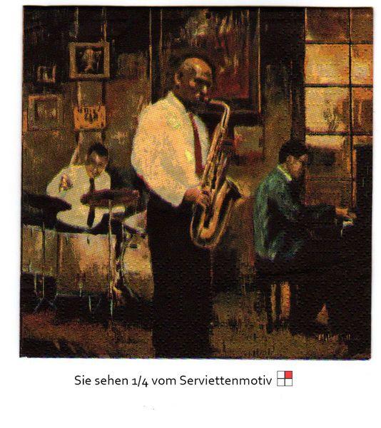 Jazz Musiker - 2 Cocktail  Servietten von Serviettenhaus auf DaWanda.com