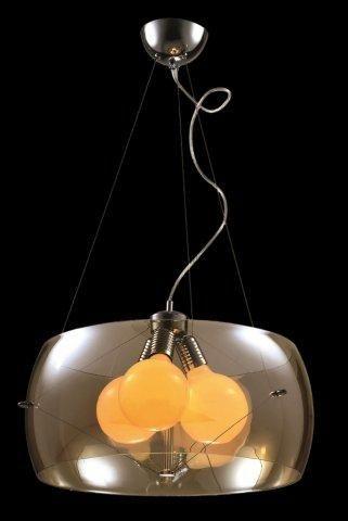 Produtos Infinity Modern Lamp - Grupo Metais Bianca Medidas: Ø50*20CM Material: VIDRO METALIZADO Descrição PENDENTE COM VIDRO METALIZADO NA COR ÂMBAR OU CROMADO SUSPENSOS POR CABOS DE AÇO. IDEAL UTILIZAR LÂMPADA BOLA COM SOQUETE E27.